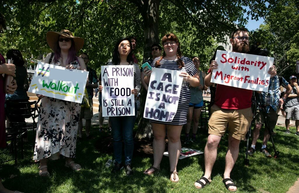 Woke Sysco employees protest sale of food to border detention camp